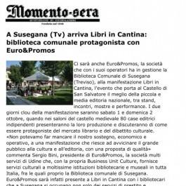 A Susegana (Tv) arriva Libri in Cantina: biblioteca comunale protagonista con Euro&Promos;