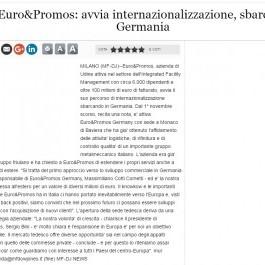 Euro&Promos;: avvia internazionalizzazione, sbarca in Germania