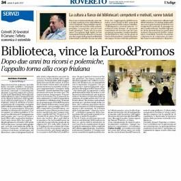 Biblioteca, vince la Euro&Promos;